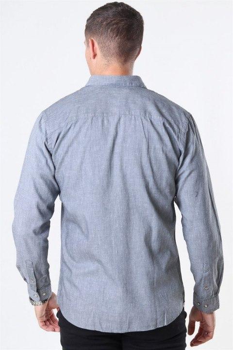 Jack & Jones Blalogo Autumn Skjorte L/S Grey Melange