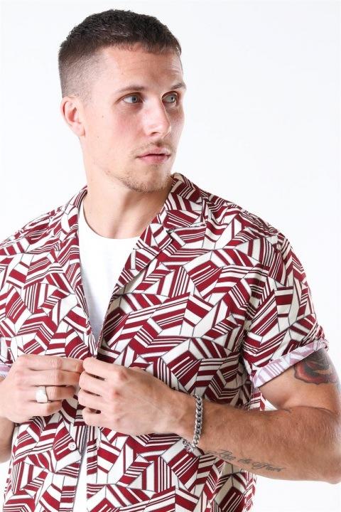 Woodbird Buck Geo Skjorte Kit-Red