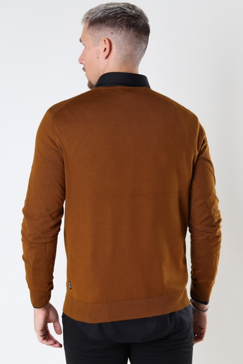 ONLY & SONS ONSWYLER LIFE LS CREW KNIT NOOS Monks Robe