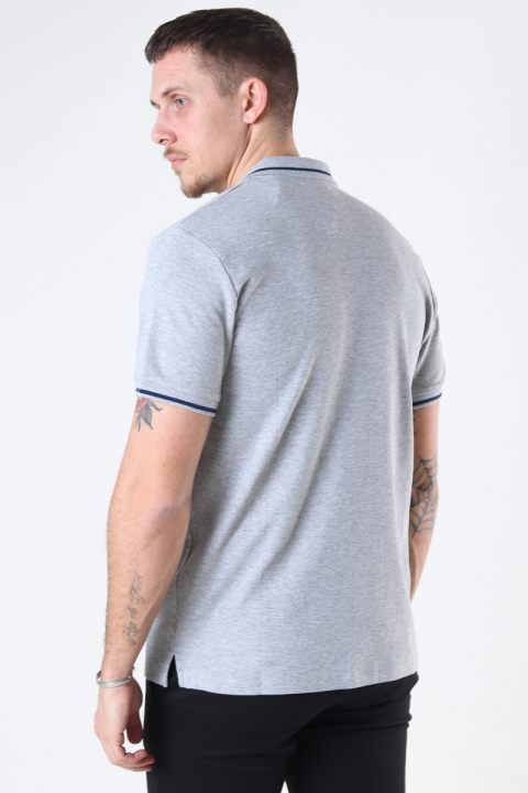 Jack & Jones JJEJERSEY POLO SS NOOS Light Grey Melange REG