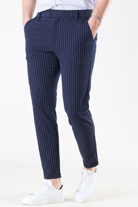 Les Deux Como Light Pinstripe Suit Pants D.Navy/Provincial blue