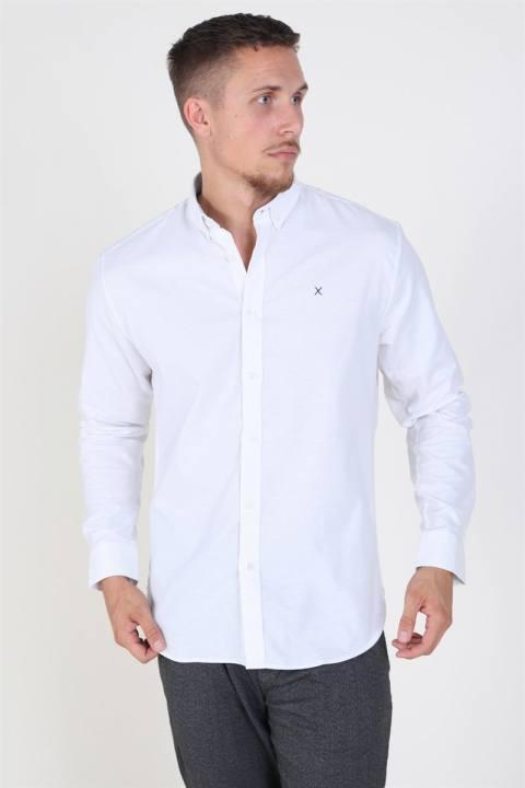 Køb Clean Cut Oxford Plain Skjorte White