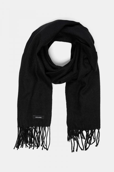 Jack & Jones Solid Woven Halstørklæde Black