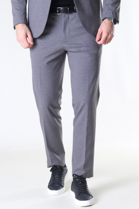 Selected Slim Jim Flex Bukser Light Grey Melange