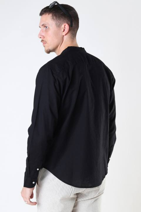Clean Cut Copenhagen Cotton / Linnen Mao L/S Black