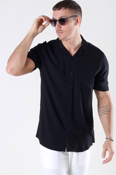 Køb Only & Sons Silo Solid Viscose Skjorte Black