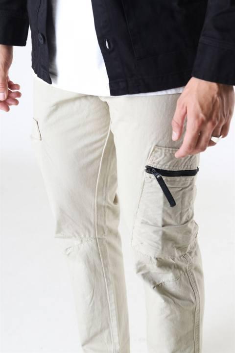 Denim Project Tech Cargo Pants Silver Grey