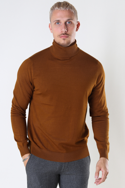 ONLY & SONS ONSWYLER LIFE ROLL NECK KNIT NOOS Monks Robe