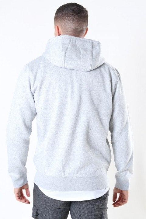 Tommy Jeans Fleece Zip Hoodie Light Grey
