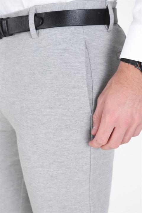 Clean Cut Milano Jersey Pants Light Grey Mel