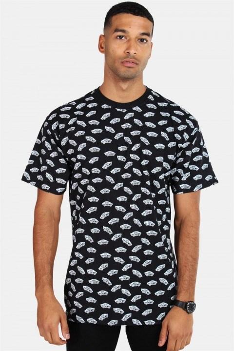 Køb Vans All Over Distorted SS Black T-shirt