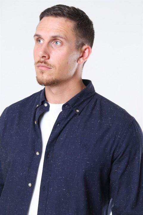 Jack & Jones Blalogo Autumn Skjorte L/S Navy Blazer
