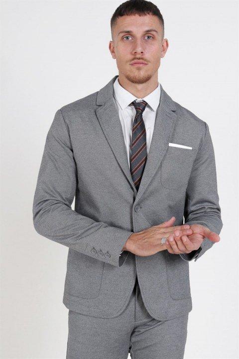 Only & Sons Mark Blazer Medium Grey Melange