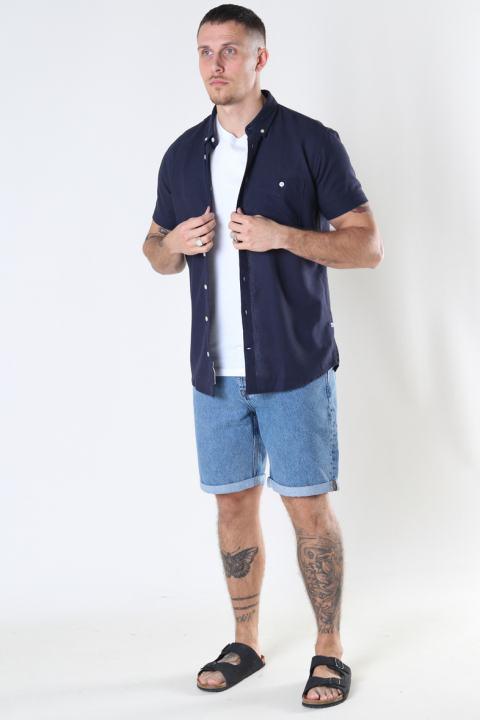 Kronstadt Johan Linen S/S shirt Navy