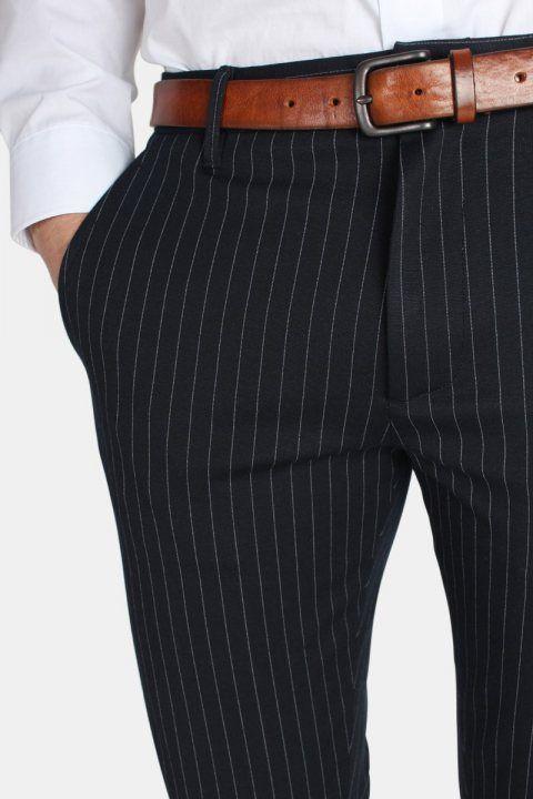Gabba Pisa Chino Pinstripe Bukser Navy Stripe