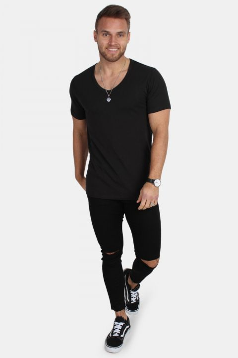 Jack & Jones Basic V-Neck T-shirt S/S Black