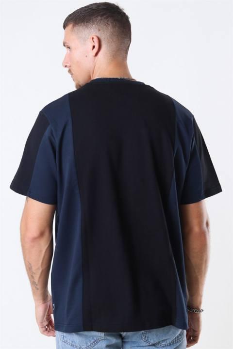 WoodBird Agle Cut T-shirt Navy-Black
