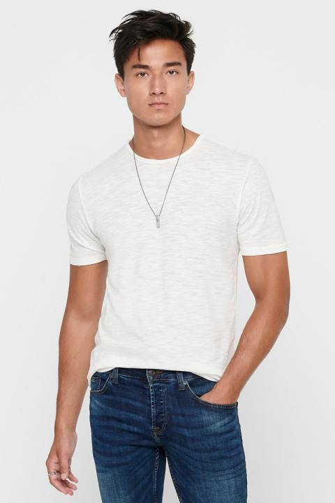 ONLY & SONS ONSALBERT LIFE NEW SS TEE White