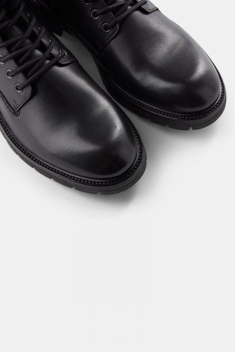 Shoe The Bear Squire Snørestøvle Black