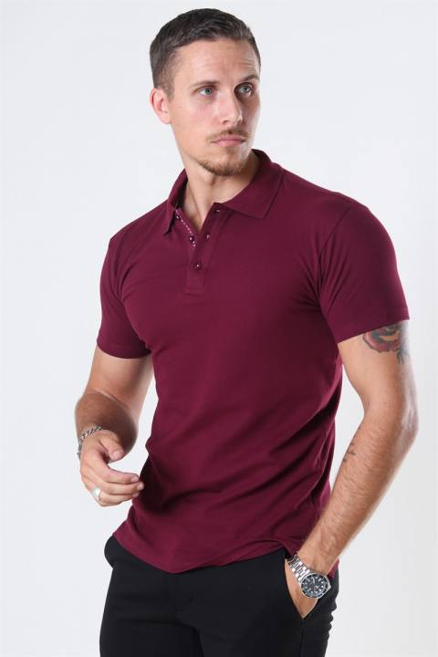 Muscle Fit Polo Burgundy