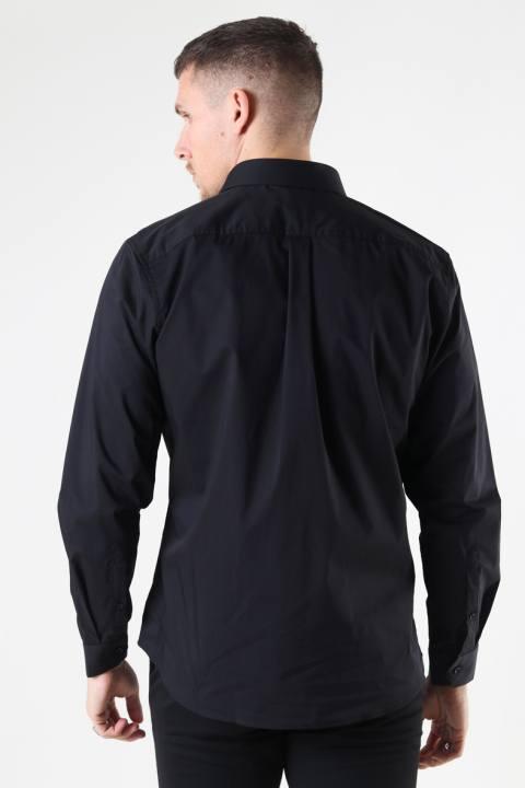 Clean Cut Copenhagen London Stretch Nano Shirt L/S Black