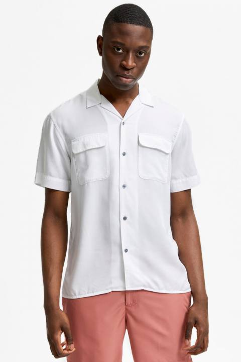 Køb Selected SLHRELAXBILL SHIRT SS G Bright White