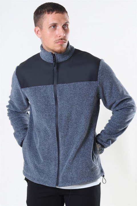 Rains Fleece Zip Puller Jakke Grey Melange