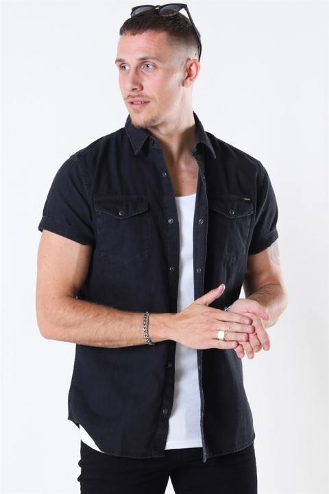 Jack & Jones Sheridan Skjorte S/S Black Denim