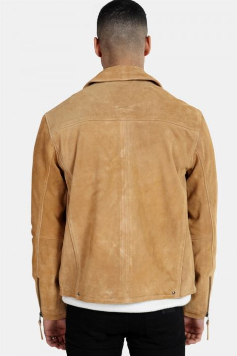 Gabba Phire Leather Jakke Warm Sand