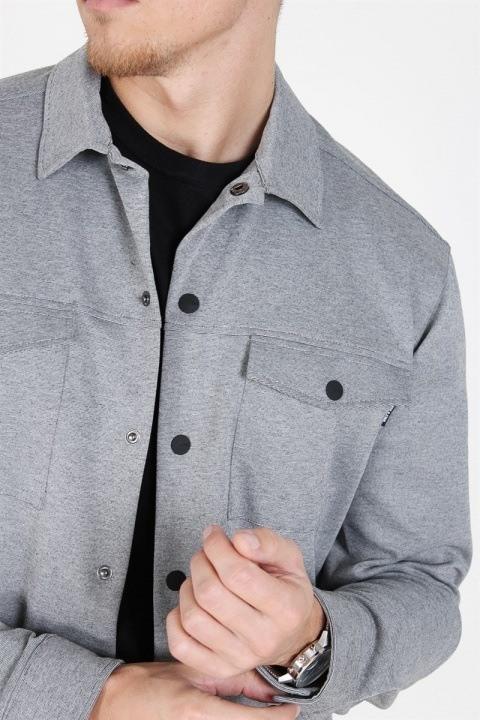 Only & Sons Comfort Stretch Overshirt Light Grey Melange
