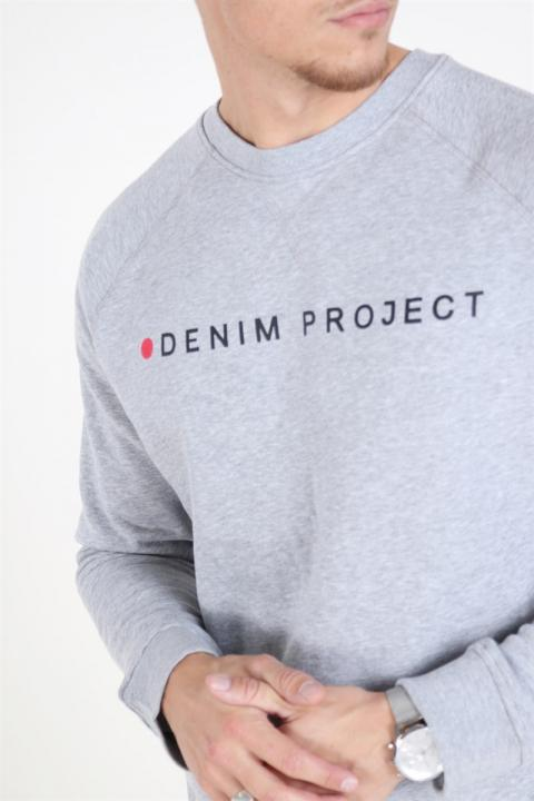Denim Project Logo Crew Grey