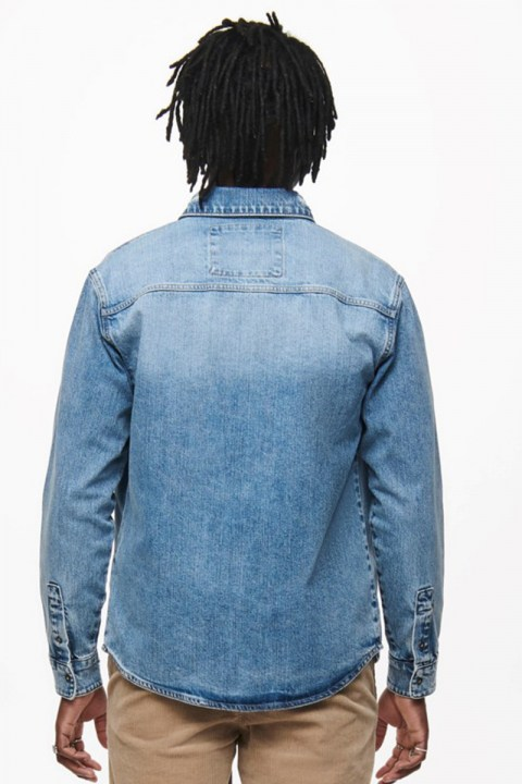 ONLY & SONS ONSLUCAS LIFE OVERSHIRT PK 9151 Blue Denim