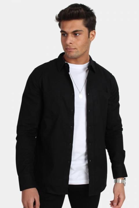 Image of Urban Classics TB297 Checked Flanell Skjorte Black/Black (1515750294-M)