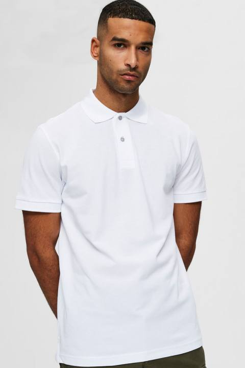 Selected SLHNEO SS POLO S NOOS Bright White