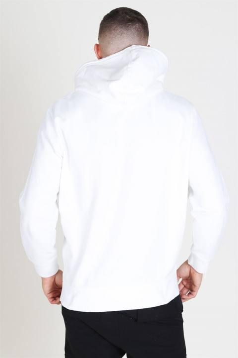 Levis Pieced Pullover Hoodie White