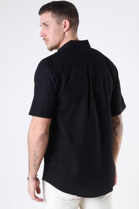 Denim project DP Linen ss shirt 001 Black