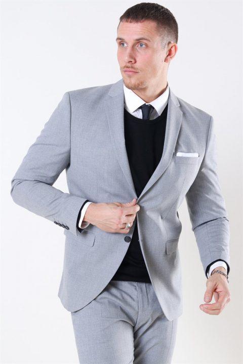 Selected Slim-Mylo Logan Blazer Light Grey Melange