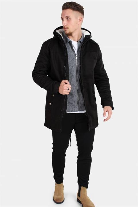 Only & Sons Alex Teddy Parka Jakke Black