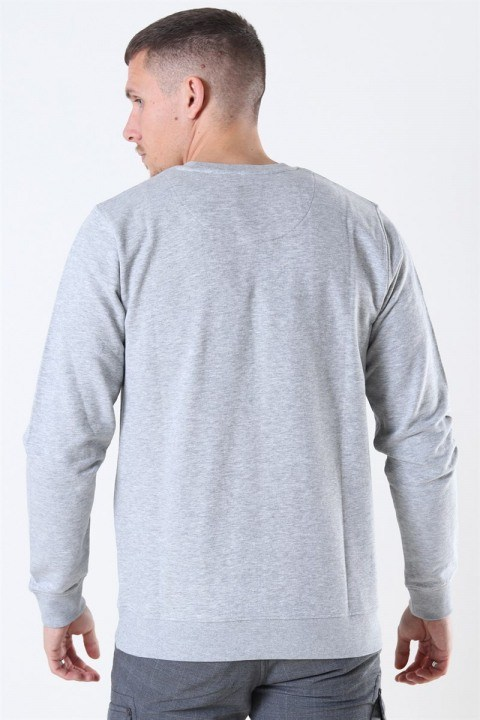 Clean Cut Basic Organic Crewneck Light Grey Melange