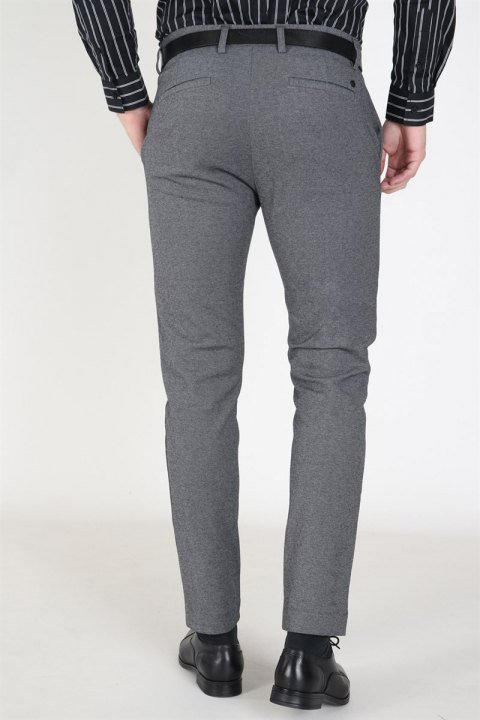 Clean Cut Milano Jersey Pants Dark Grey Mix