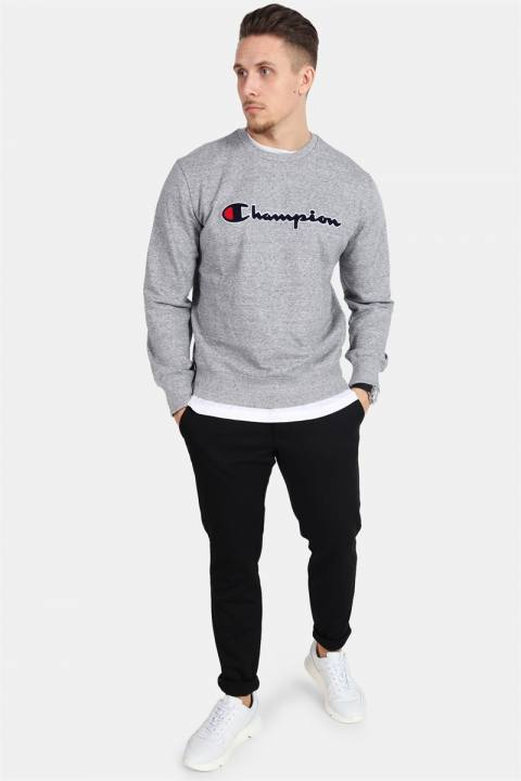Champion Crewneck Sweatshirt Light Grey Melange