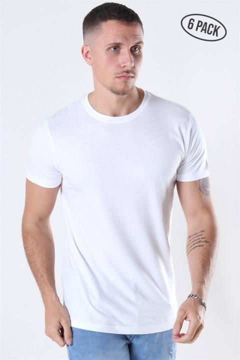 Bilde av Basic Brand Cam T-shirt 6-pack White