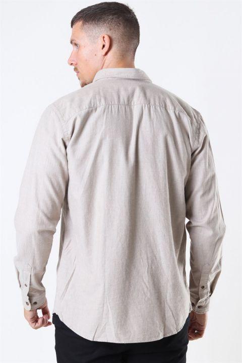 Jack & Jones Classic Melange Skjorte Oatmeal