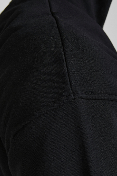 Jack & Jones JORBRINK SWEAT QUARTER ZIP HIGH NECK Black LOOSE