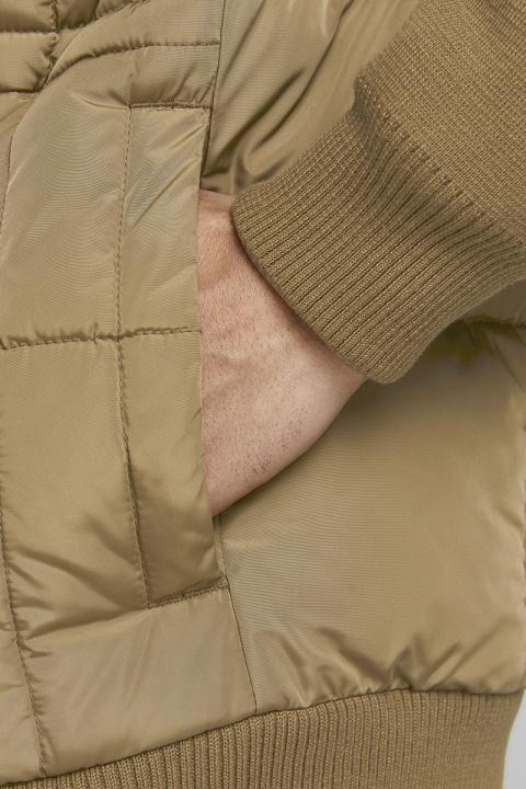 Jack & Jones JPRBLAROCCO QUILTED KNIT JKT SN Dark Coat Khaki