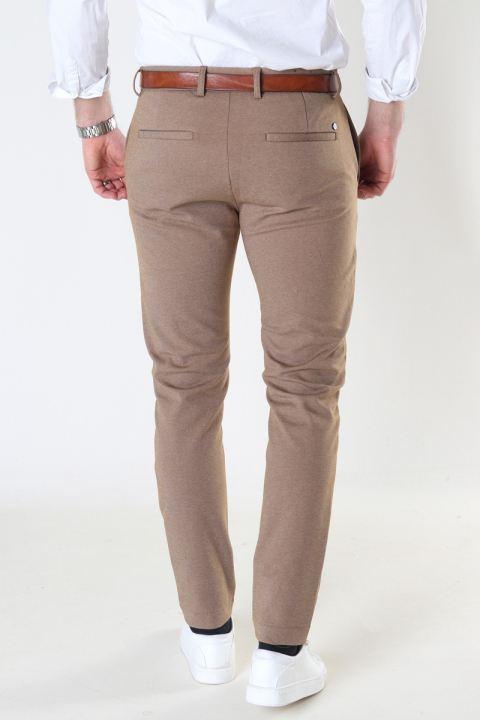 Clean Cut Copenhagen Milano Jersey Pants Dark Camel Mel