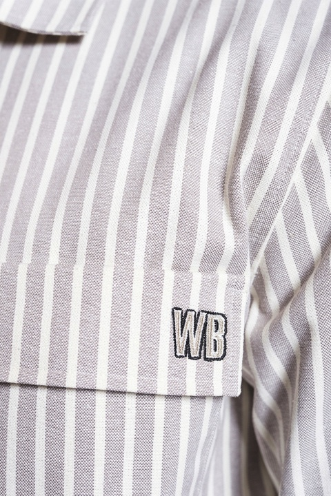 Woodbird Prize Stripe Shirt Ecru-White