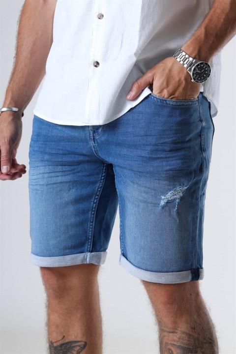 Only & Sons Ply PK 6950 Shorts Blue Denim