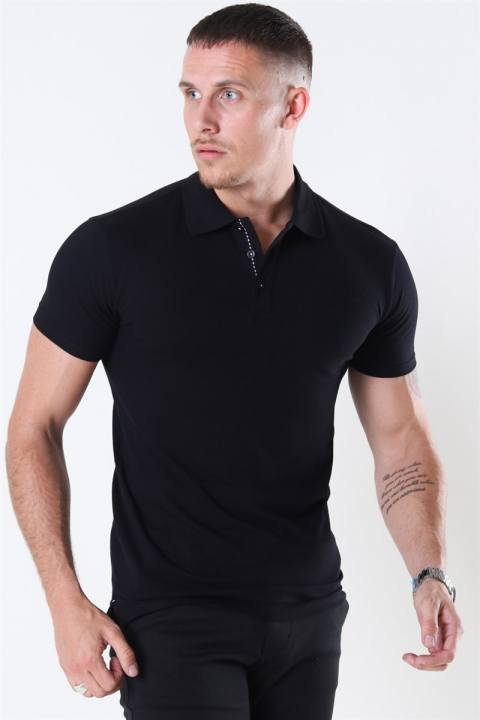 Muscle Fit Polo Black