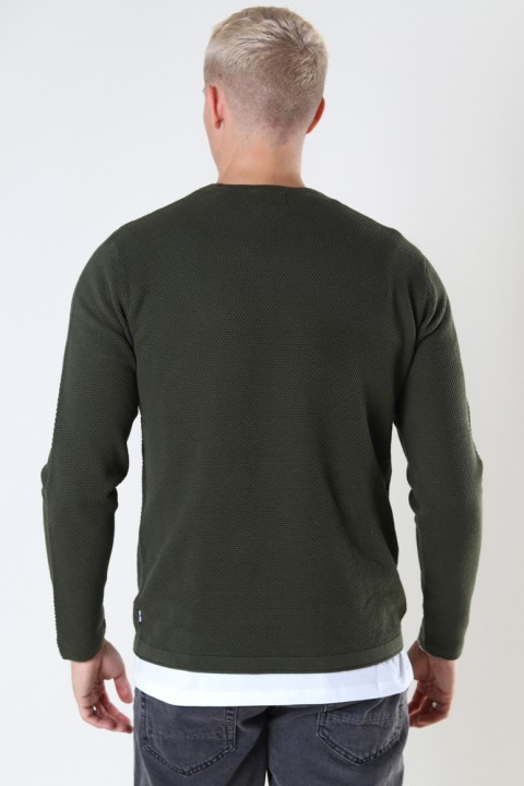 ONLY & SONS ONSPANTER LIFE 12 STRUC CREW KNIT NOOS Forest Night